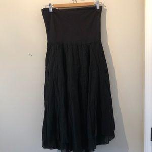 Sz M strapless dress or skirt